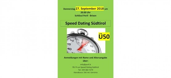 Speed ​​dating unter 35